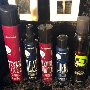 Set of 5 Matrix styling products